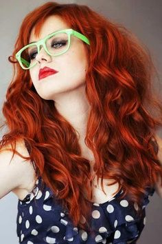 Long Red Curly Hairstyles