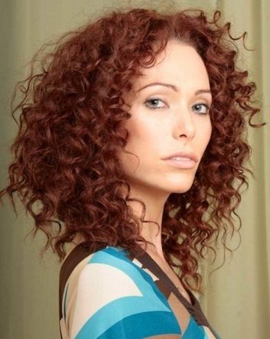 Long Tight Curls Hair Style..