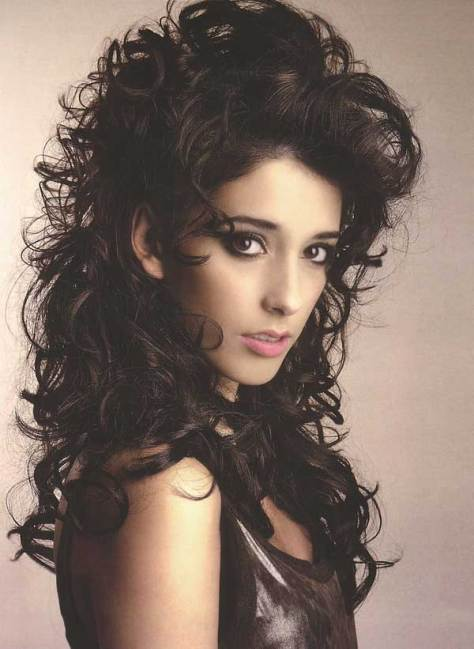 Messy Black Curly Hairstyle..