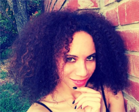 Mixed Girl With Curly Hair