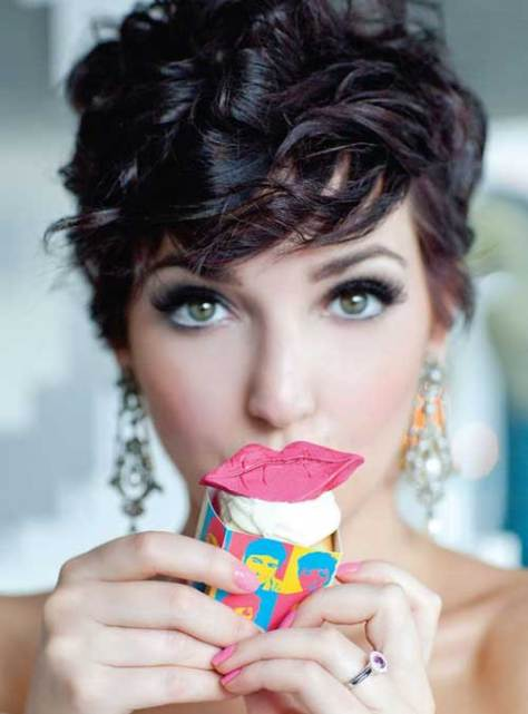 Pretty Short Curly Pixie Hairstyle