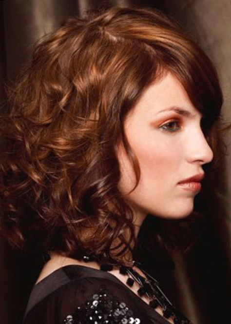 Shoulder Length Curly Hair Styles..