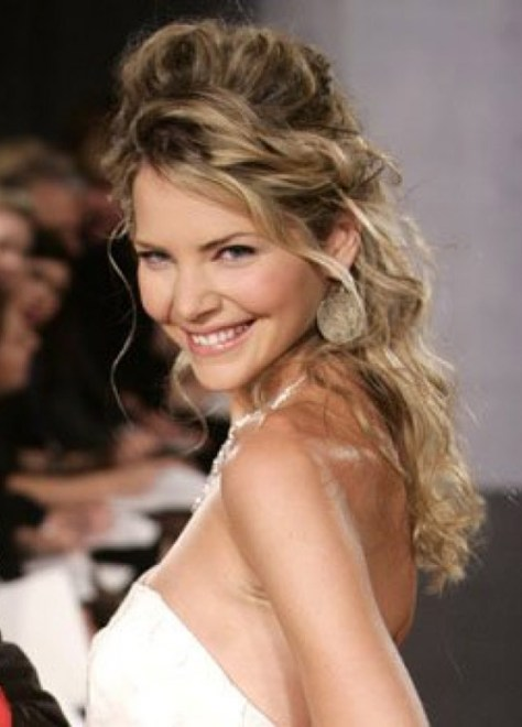 Simple Wedding Hairstyles For Long Curly Hair