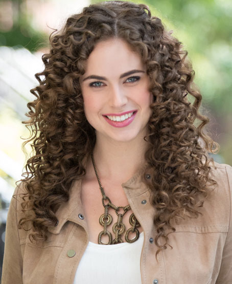 Tight Springy Curly Hairstyle