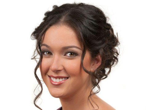 easy updos for curly hair