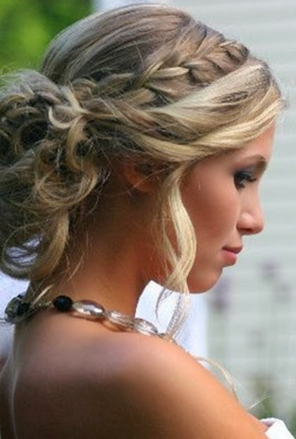 prom hairstyles updos with braids and curls..