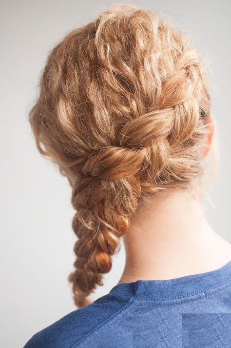 Hairstyle for curly hair..