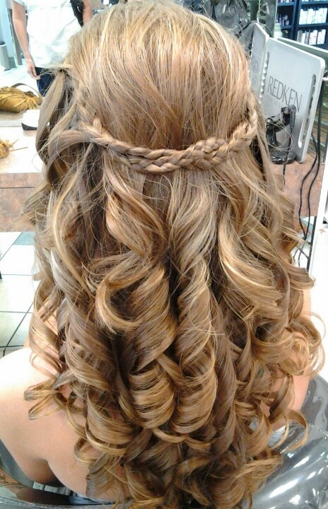 Prom Hairstyles For Medium Hair With Curls And Braids