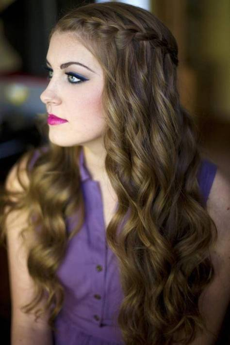 Wavy Side Braided Hairstyles 2015