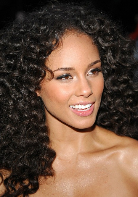 African American Long Natural Curly Hairstyle