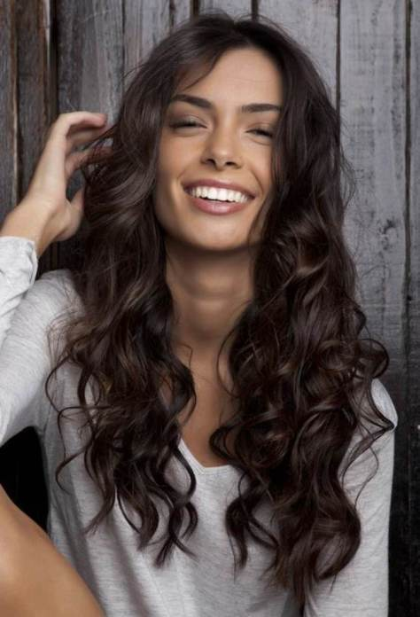 Curly Hair With Fringe Hairstyles Gallery