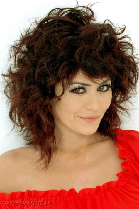 Curly Hairstyles With Bangs Gallery