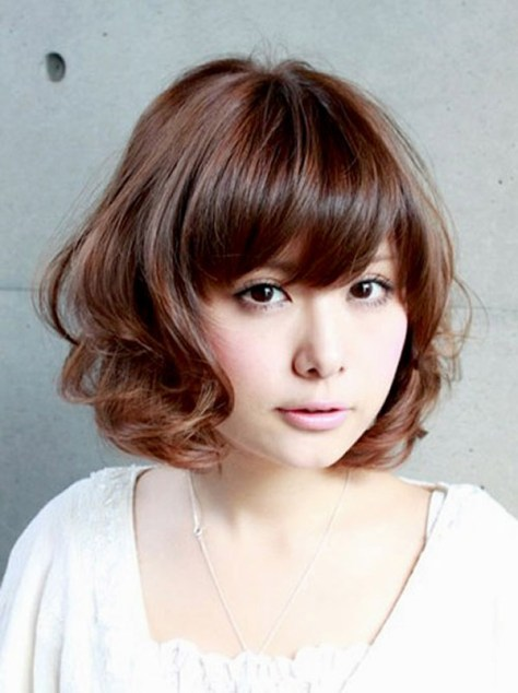 Short Curly Hair With Side Bangs