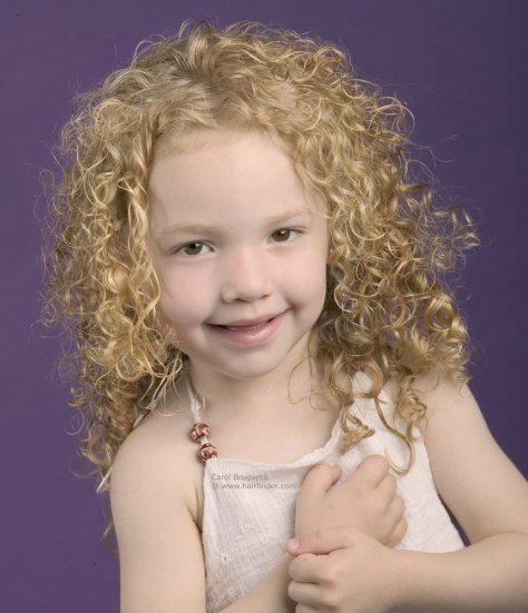 Spiraling curls for a little girl