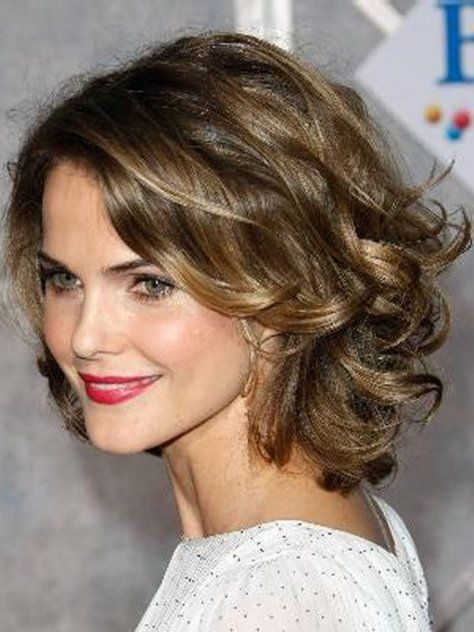 really short curly hairstyles for round faces Best Short Curly ...