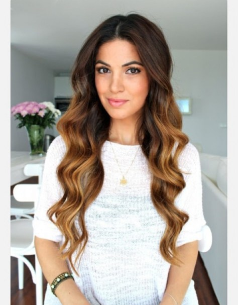simple everyday hairstyles for long curly hair