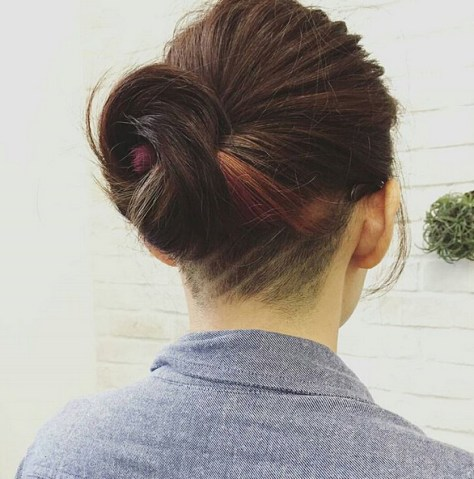 Undercut-Hairstyle-for-Twisted-Updo