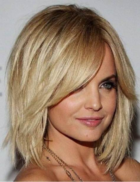 haircut with bangs for thick hair