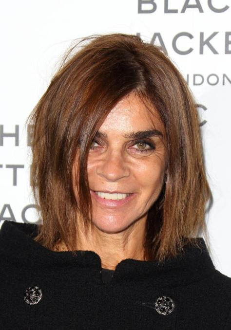 LONDON, ENGLAND - OCTOBER 11: Carine Roitfeld attends the Chanel: The Little Black Jacket private view at Saatchi Gallery on October 11, 2012 in London, England. (Photo by Mike Marsland/Getty Images)