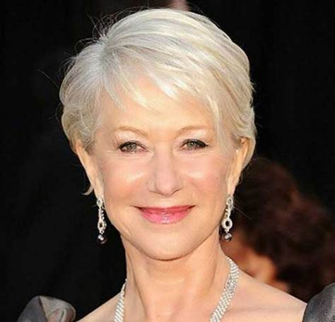 Grey Fine Pixie Haircut Idea for Women Over 50