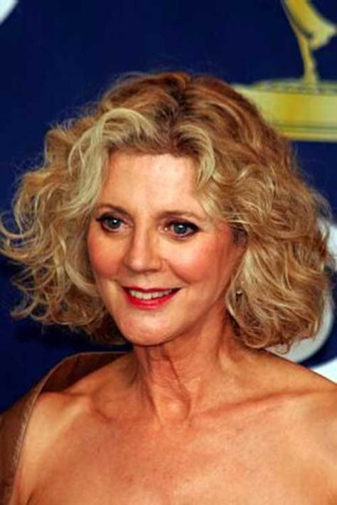 Modern Short Curly Hairstyle for ladies Over 50