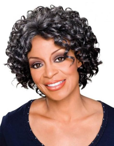 Short Curly Hairstyles for Black Women Over 50 ...