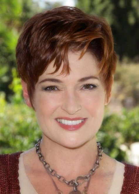 Trendy Short Pixie Haircuts for Women Over 50