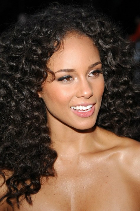 Alicia Keys Long Curly Hairstyles