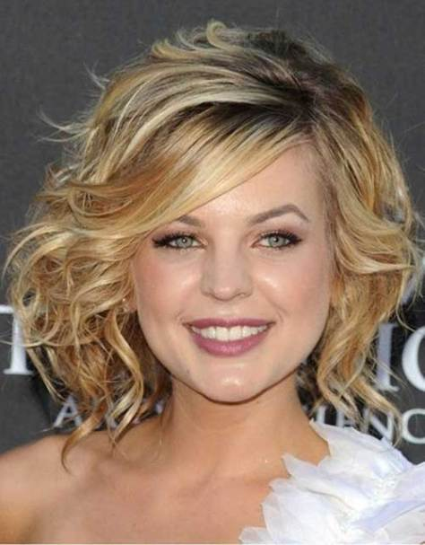 Curled Cute Hairstyles for Short Hair
