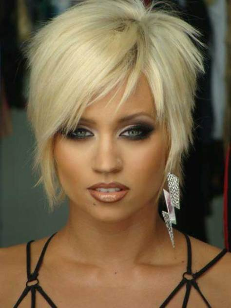 Cute short razor cut hairstyles women
