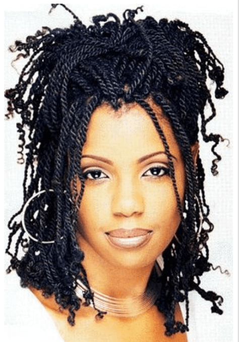 Kinky Twist Braids Hairstyles for Black Women