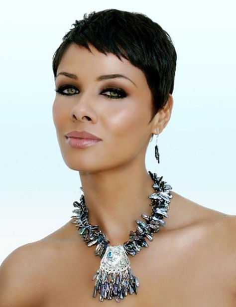 Short Black Hairstyles with Dark Color
