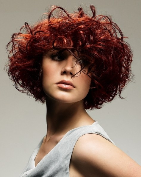 Short Bob Hairstyles for Naturally Curly
