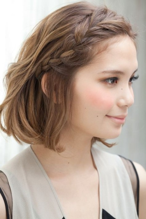 Short Hair Side Braid Hairstyles