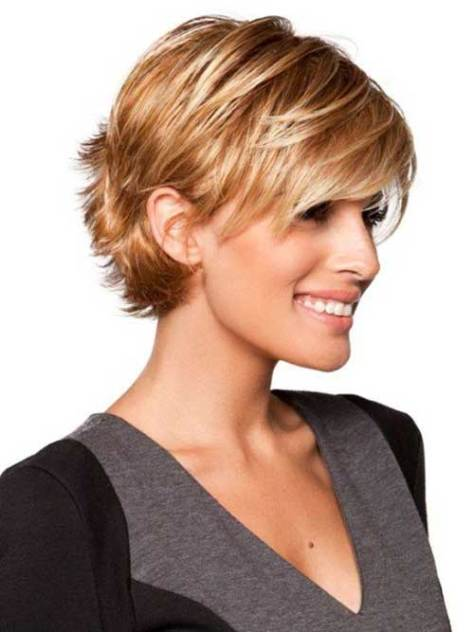 Short Haircuts for Fine Hair with a Bang