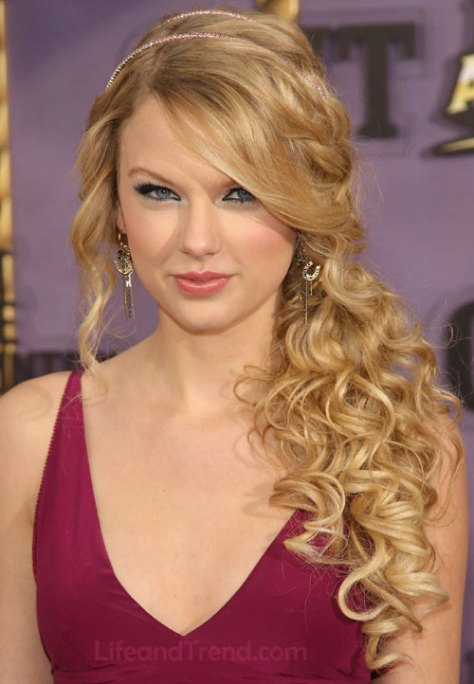 Side Curly Prom Hairstyles for Long Hair