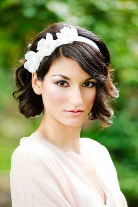 Wedding Hairstyles For Short Hair with Bangs