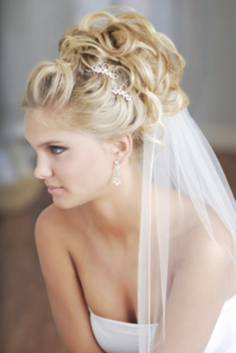 Wedding Hairstyles Updos with Veil