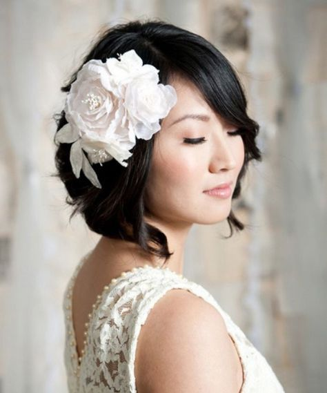 bridal hairstyles for short hairs 2016