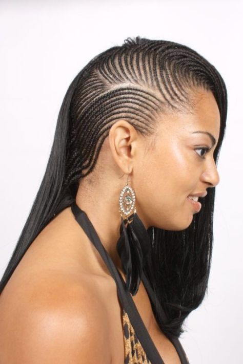 cornrow braid style