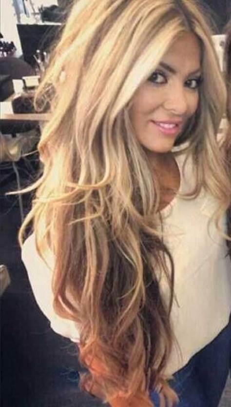 Blonde Long Layered Haircut