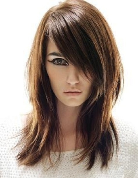 Haircuts with Side Bangs for Long Hair