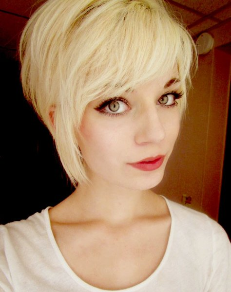 Long Pixie Haircut with Short Bangs