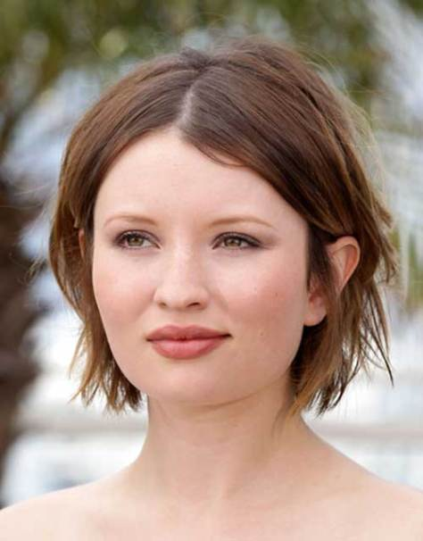 Short Choppy Haircut for Straight Hair Type and Round Face