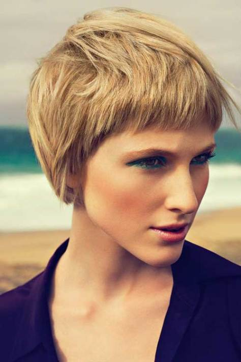 Short Hairstyles Thick Hair Haircuts
