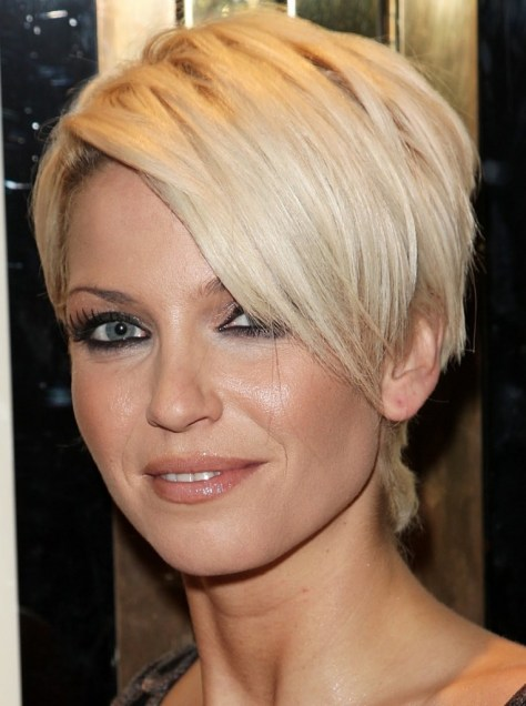 Short hair on women with round faces