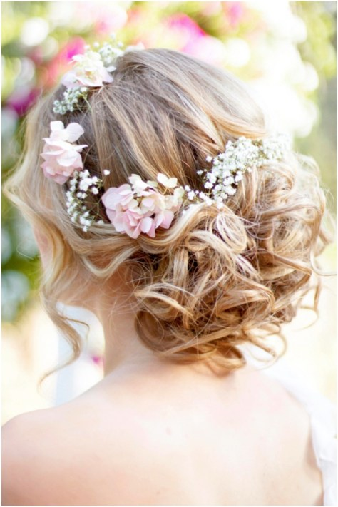 bohemian styles updo wedding hairstyles