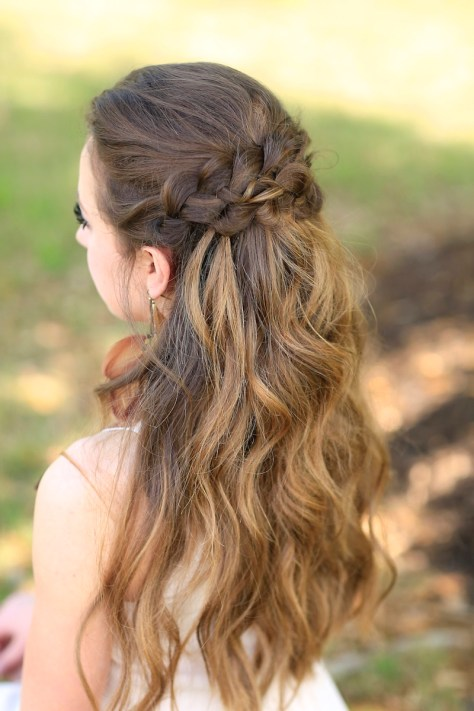 Braided Half Up Prom Hairstyles