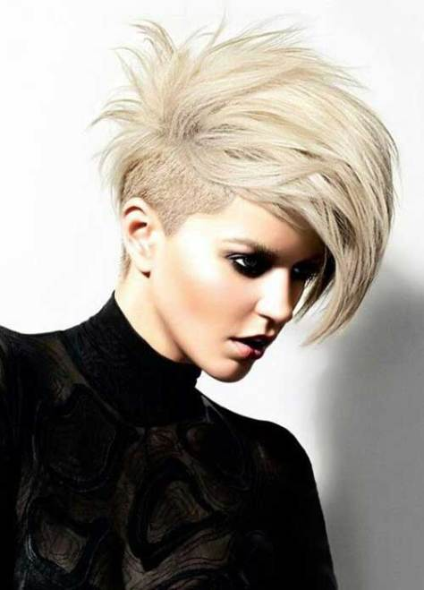 Funky Short Hairstyles with Undercut