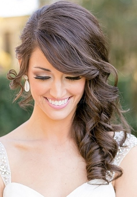 hair down wedding hairstyles